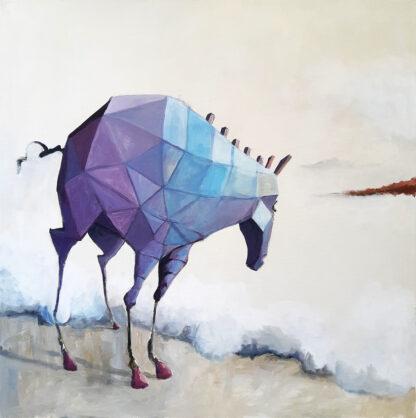 סוס גיאומטרי סגול